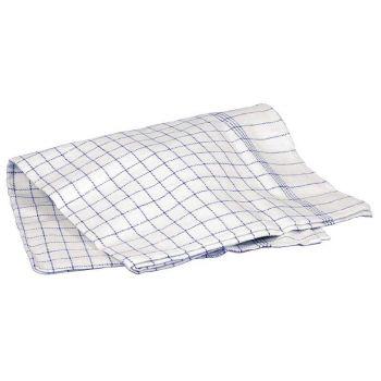 Oppvaskhåndkle 100 x 50cm, hvitt og blått