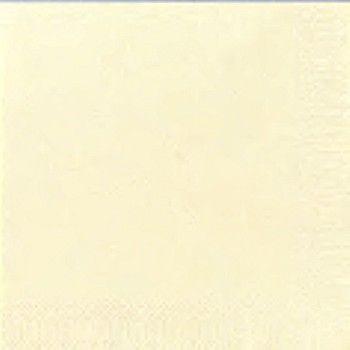 Serviett Duni Tissue Vanilje 33x33cm 3-lags (125 stk)