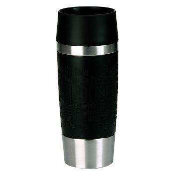 Termobeger, sort stål, 0,36 Liter