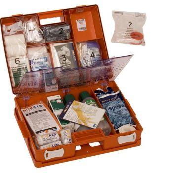 Førstehjelpskoffert med innhold
