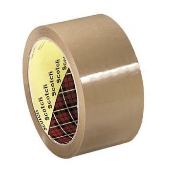 Pakketape 50mm x 66m 3M, brun (6 rl)
