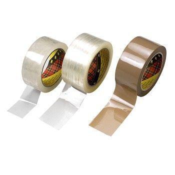 Pakketape 50mm x 66m 3M, brun (36 rl)