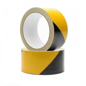 Varseltape 50mm x 33m, Gul og Sort
