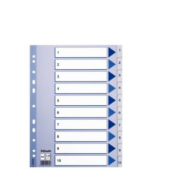Register Esselte PP A4 1-10, Hvit