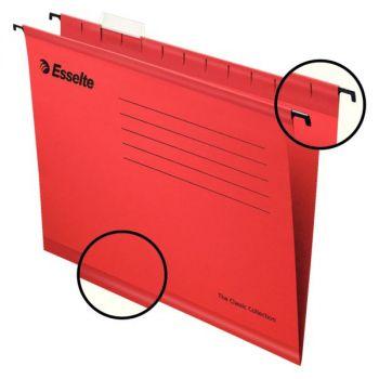 Hengemappe Folio Esselte Classic Rød (25 stk)