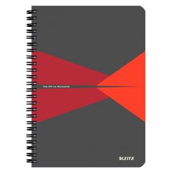 Notatbok Leitz Office PP A5 Linjer Rød