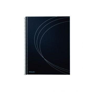 Notatbok Memo A5 Spiral Linjert, Sort