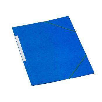 Strikkmappe kartong, med 3 klaffer A4, Blå