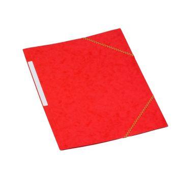 Strikkmappe kartong, med 3 klaffer A4, Rød