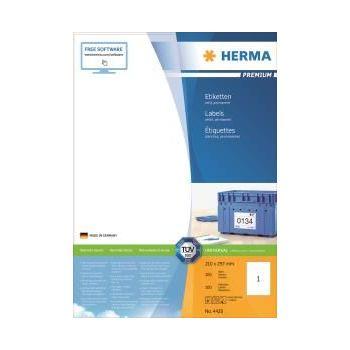 Etiketter Premium A4 210x297mm, 100pr pakke