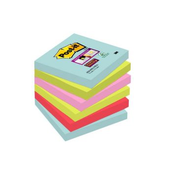 Notatblokk Post-It Super Sticky Notes Miami 76 X 76 mm (6 stk)
