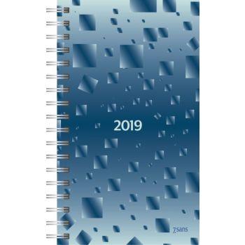 7.sans Agenda 8,7x15,3cm - plast
