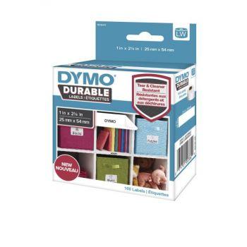 Merketape Dymo LW Durable Flerbruksetikett 25mm x 54mm, 160 etiketter