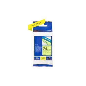 Merketape TZEC51 sort/gul fluoriserende