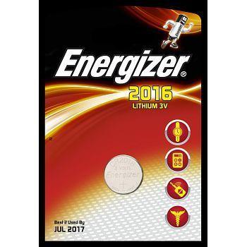 Batteri 3V Energizer Lithium CR 2016. Pakke á 1stk