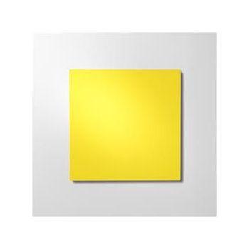 Glasstavle Mood, magnetbærende, 2000x1000mm, Happy (gul)