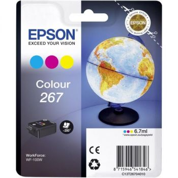 Blekk EPSON 267 Gul/Cyan/Magenta 7ml for WorkForce WF-100W