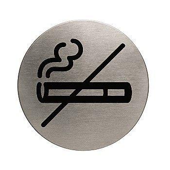 Dørskilt Røyking forbudt Metallic 83mm
