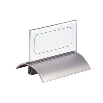 Bordskilt i aluminium og plast 100x52mm (2 stk)