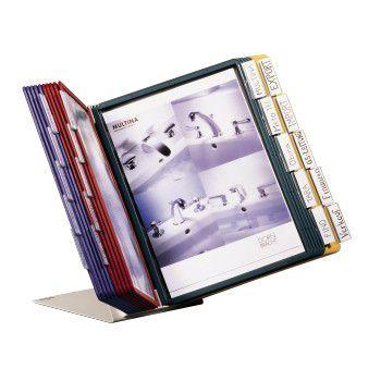Vingregister Vario A4 10-lommer, 5 farger