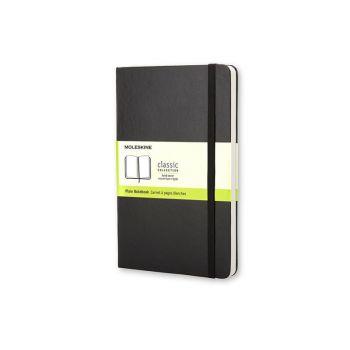 Notatbok - Moleskine 13 x 21 cm - Ulinjert sort