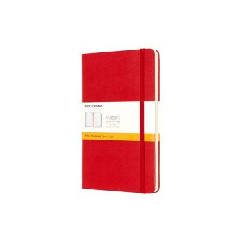 Notatbok - Moleskine 13 x 21 cm - Linjert rød