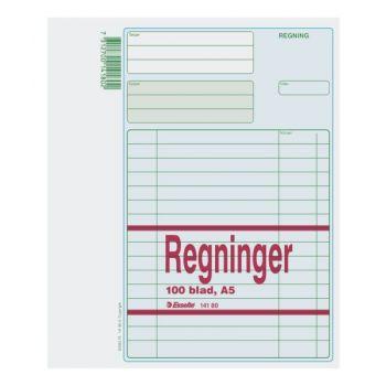 Regningsblokk A5 100 blad (5 bl)