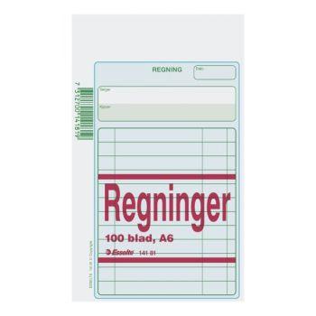 Regningsblokk A6 100 blad (5 bl)