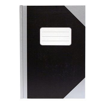 Protokoll A5 78 blad, linjer, Sort og Grå (5 stk)