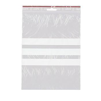 Lynlåsposer, med skrivefelt, 17x23cm