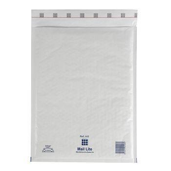 Støtbeskyttende pose 270X360mm Mail Lite H5, hvit boblepose