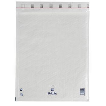 Støtbeskyttende pose 350X470mm Mail Lite K7, hvit boblepose