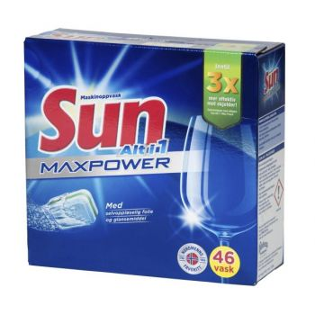 Oppvaskmiddel Sun alt-i-1 Maxpower, 46 tabletter