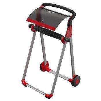 Dispenser Tørkepapir, gulvstativ Tork W1, sort og rød