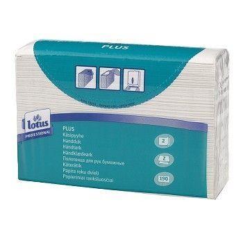 Papirhåndkle Z-fold Lotus Professional 21,3x23,4cm 2-lag
