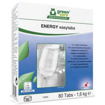 Oppvaskmiddel Green Care Proffesional 4-i-1, Energy Easytabs 80 tabletter