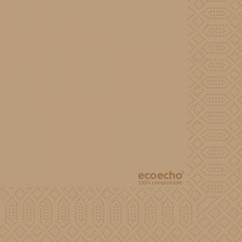 Serviett 33X33cm ECO brun (250 stk)