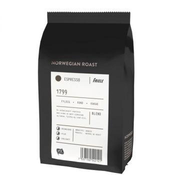 Kaffe Friele espresso hele bønner 500G kartong. 12 poser