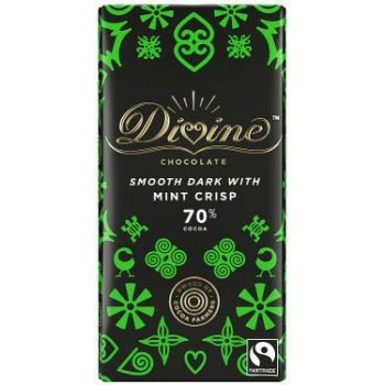 Sjokolade - Fairtrade Divine m/mint 70% (90g)