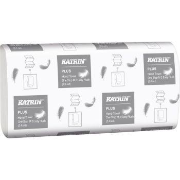 Tørkepapir Katrin Plus One Stop M2 EasyFlush 20,6x25cm 2-lag