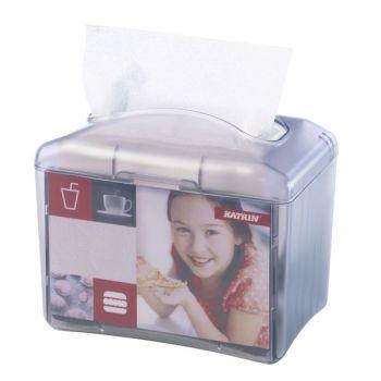 Borddispenser for serviett Katrin - transparent plast