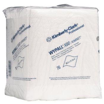 Industritørk - Wypall X60 - 31,5x36,5cm hvit (76 stk)