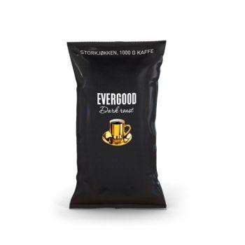 Kaffe Evergood Darkroast, ekstra finmalt, 1000g