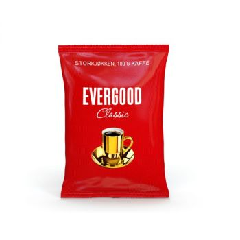 Kaffe Evergood, finmalt, 100g