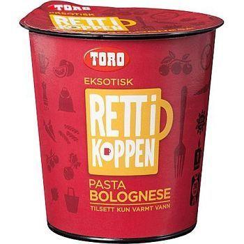 Pasta Bolognese Toro Rett i koppen