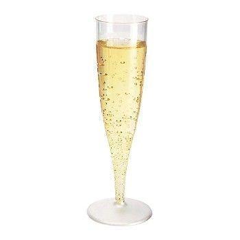 Champagneglass Duni plast 13,5cl (100 stk)