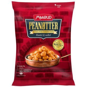 Peanøtter - Maarud røstet og saltet (300 gr)