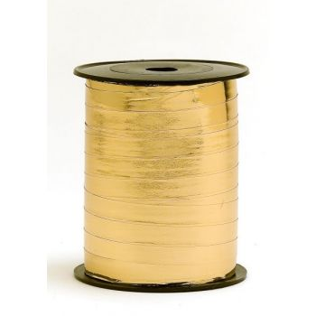 Gavebånd 10mm x 250 meter gull metallic