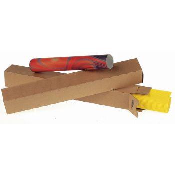 Papphylse, firkant 430x105x105mm, brun