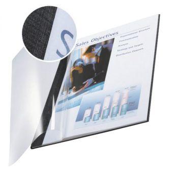 Innbindingsomslag A4 15-35 ark. 3,5 mm, impressBIND, Sort (10 stk)